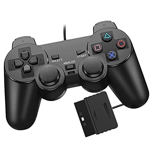 PS2 コントローラー Diestord 有線 PS2 対応 アナログコントローラー playstation2 用 ゲームパッド