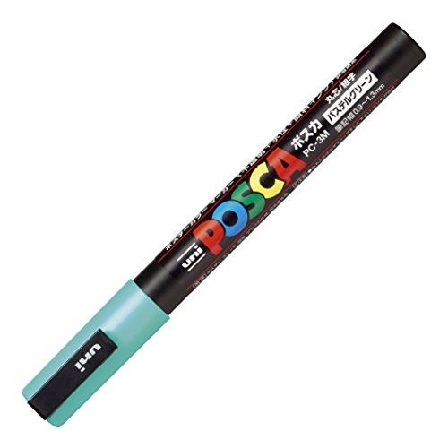 三菱鉛筆 ポスカ ナチュラルカラー 極細 パステルグリーン PC1MP.6