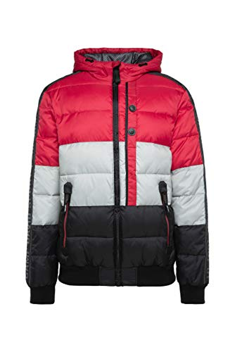 Camp David Herren Steppjacke mit Kapuze und Colour Design