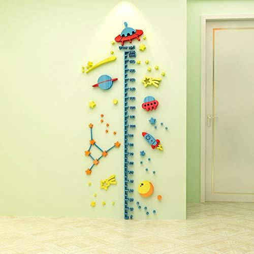 VIOYO 3D Cartoon Hoogte Meet Muurstickers Verwijderbare Acryl Behang Voor Kinderen Kamer 3D Groeidiagram Muursticker muursticker Poster