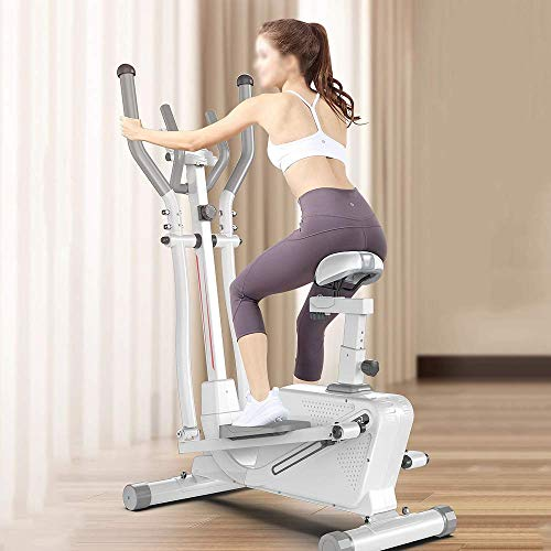 HHJJ Elliptical Machine,Home Cross Trainer,8 Level Magnetic Resistance,Cardio Workout,10KG Two Way Flywheel,Console Display,for Home/Gym RunningMachine1121