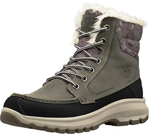 Helly-Hansen Men's S Garibaldi V3 Waterproof Winter Snow Boot Warm with Grip Earl Grey Black Aluminum 9 5, 43