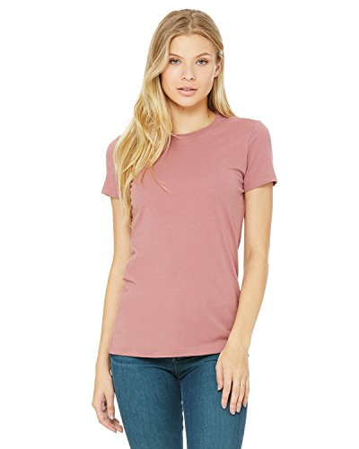 Bella Canvas Women's Side-Seamed The Favorite Tee, Mauve, XX-Large