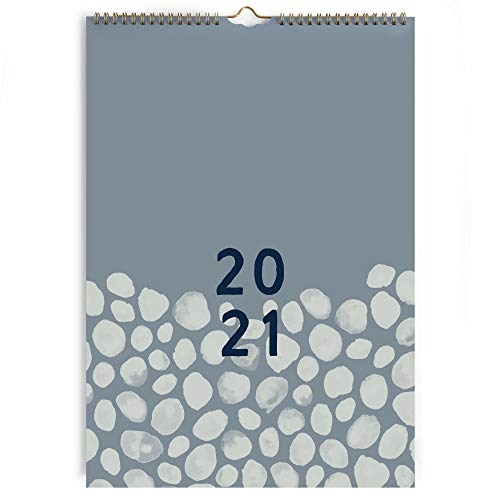 (en alemán) Calendario 2021 pared A3 Perfect Year de Boxclever Press. Calendario 2021 con pestañas mensuales. Planificador mensual enero - diciembre'21. Calendario con útil bolsillo y pegatinas