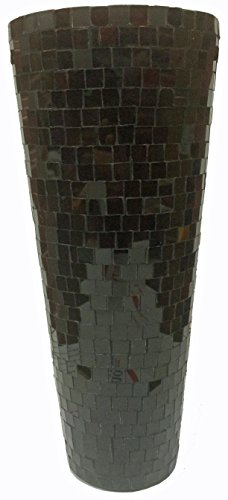 MG decor glas vaas mozaïek, 30,5 cm, bruin