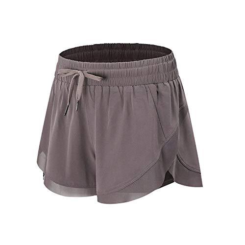 Pantalones Cortos para Mujer Color sólido Simple Versátil Pantalones Cortos Deportivos Transpirables y de Secado rápido Pantalones Deportivos elásticos para Correr Delgados de Yoga M