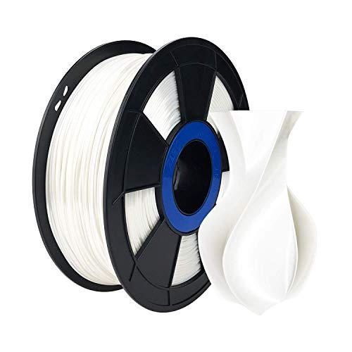 ZIRO Seda PLA 1,75 mm Filamento,Impresora para filamentos 3D Seda Serie PLA 1,75 mm 1KG (2,2 libras),Blanca