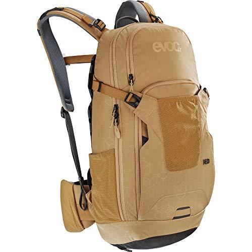 EVOC NEO 16l Protektor Rucksack Fahrradrucksack Backpack (TÜV/GS-zertifizierte AIRSHIELD Protektortechnologie, 360° Belüftung, inkl. Regenhülle), Größe: S/M - Farbe: Gold