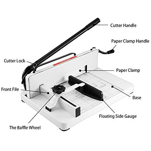 Ztopia Stapelschneider A3 Schneidemaschine für kleine Formate 17 inch 400 Blatt Papierschneider mit Schneidemaschine und Hebelschneider für Papier & Foto Schnittlänge (A3)