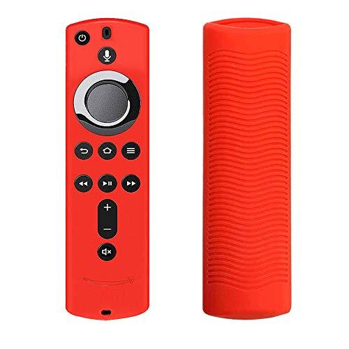 Zchui - Funda protectora de silicona para mando a distancia de casa, resistente, suave, antiderrapante, práctica, ligera, a prueba de golpes para Fire TV, Rojo, Tamaño libre