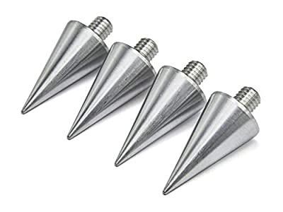 PrecisionGeek - BIG Aluminium Spikes M6 20mm dia - Set of 4 pcs by MAAD Precision Engineering Ltd