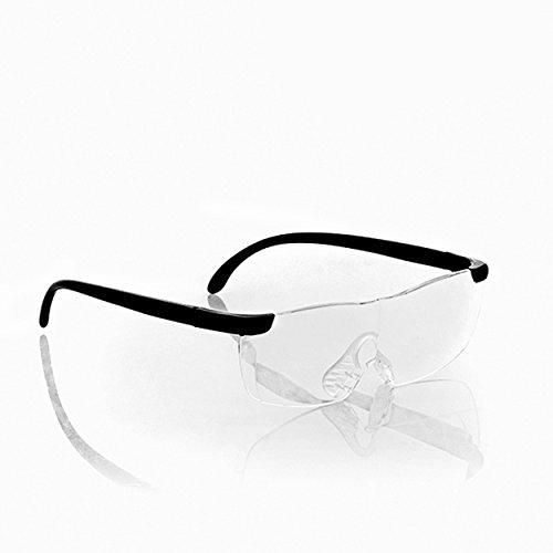 Oramics Lupenbrille Vergrößerungsbrille Brillenlupe – ideal zum Lesen und für Feinarbeiten – 60% Vergrößerung, ergonomisches Design aus Polycarbonat inkl. Stoffetui