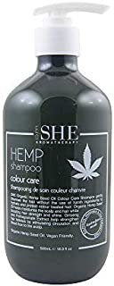 Sponsored Ad - om SHE Aromatherapy Organic Hemp Seed Oil Shampoo - Color Care