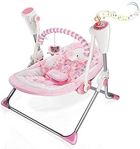 Silla de balancín de bebé, silla de bebé eléctrica para bebés, con...