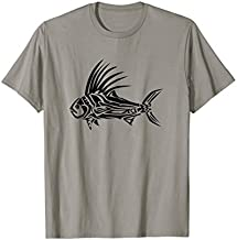 Roosterfish Shirt - Cool Rooster Fish Tribal Design T-Shirt