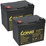 Lot de 2 batteries AGM 12 V / 36 Ah - U1-36NE - Résistantes aux cycles - Compatible MP36-12C REC36-12I 12LCP-36 - 34 Ah 35 Ah 38 Ah.