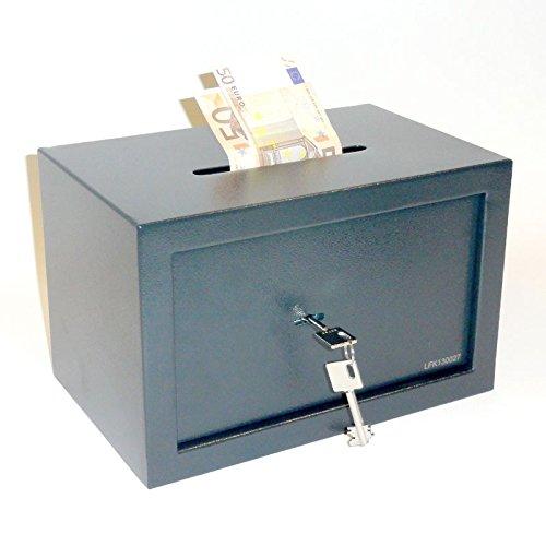 Tresor Möbeltresor Safe mit Einwurfschlitz - ca. 12l - 2 x Doppelbartschlüssel
