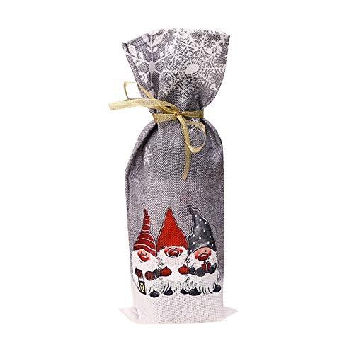 Yalatan Wein Flasche Förster Pullover Flasche Taschen Weihnachten Wein Flasche dekorative Abdeckung entzückend für Xmas Party personalisierte Tische