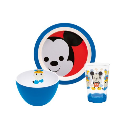 Zak Designs MMLW-0391 Disney Set Enfant 3 Pièces Mickey