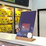 Weisin Transparent Preis Display Rack Tragbare Restaurant Cafe Produkt Display Kartenhalter Unregelmäßige Bartheke Dekoration, L Typ