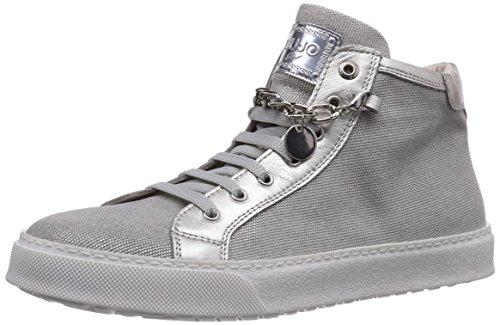 Liu Jo Sneaker, Sneaker Alta Bambina, Grigio (Grau (Tela Grigio lam)), 34