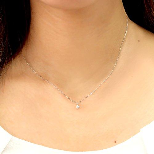 『[ベルセポーネ] Velsepone ネックレス K18 ピンクゴールド ダイヤモンド 0.1ct SIクラス Hカラー n7979b-pg』の2枚目の画像