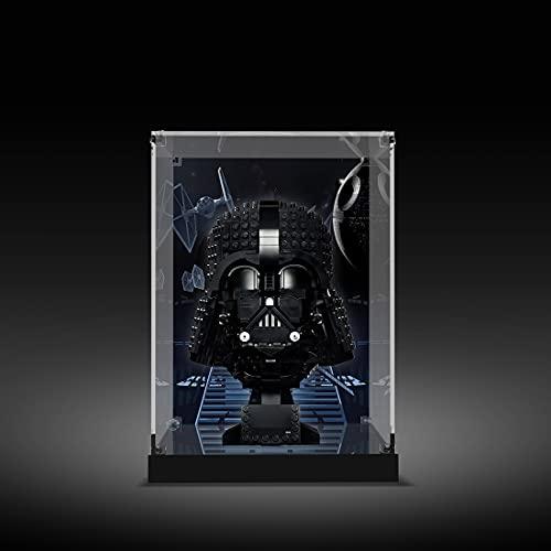 SENG Vitrina de acrílico para exhibición, caja de exposición, compatible con casco Lego 75304 Star Wars Darth-Vader (sin modelo Lego)