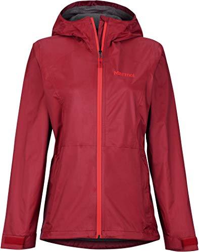 Marmot Damen Wm's PreCip Eco Plus Jacket Hardshell Regenjacke, Winddicht, wasserdicht, atmungsaktiv, Sienna Red, XL