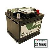 W-Parts Batteria Auto 44 Ah - 350 A EN spunto | Garanzia Italia | 207 x 175 x 175 | 45Ah