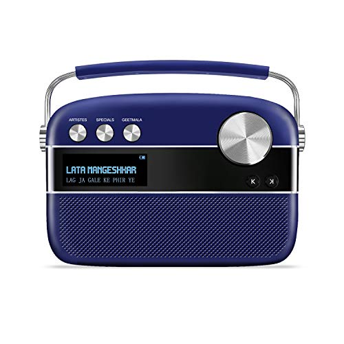 Saregama Carvaan Premium- Portable Music Player with 5000 Preloaded Songs, FM/BT/AUX  (Royal Blue)