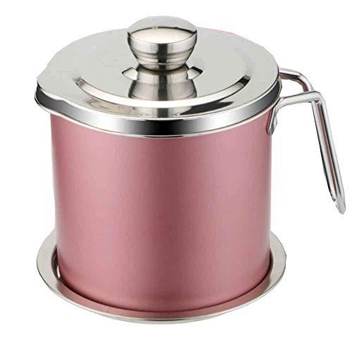 304 Edelstahl Ölerer Große Kapazität Ölflasche Küche liefert ÖL Lagertank Haushaltsfilter Öl Gießen Öltank Artefakt,Pink-1.3L