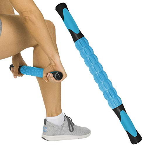 Vive Muscle Roller Stick - Body Massage for Deep Tissue - Massager for Sore Back, Neck, Leg, Foot, Arm, Yoga Exercise - Firm Rolling Tool for Workout, Runners, Athletes, Trigger Point Soreness Relief