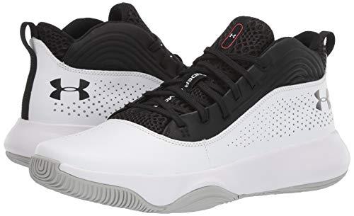 Under Armour Men's Lockdown 4 Basketball Shoe, Black (001)/White, 10.5