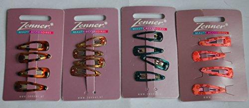 Zenner Haarspangen Inhalt: 4 Stück Haarklammern verschieden sortiert.