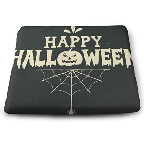 Halloween Pumpkin Spider Web Grunge Retro Design Chair Seat Cushions Pads Memory Foam Office Dining Kitchen Soft Chair Cushion for Pressure Relief, Wheelchairs, Gaming, Computer, Sofa, Comfortable, Be
