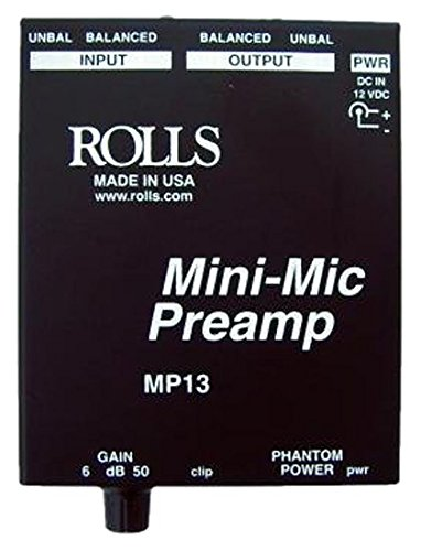 rolls Mini Microphone Preamp, Black (MP13)