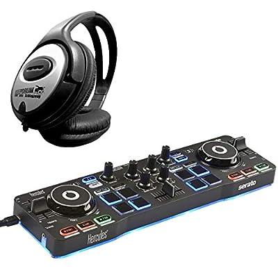 Hercules DJ Control Starlight 2-Deck DJ Controller + Keepdrum Headphones