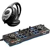 Hercules DJ Control Starlight - Controlador de DJ (2 cubiertas, incluye auriculares Keepdrum)