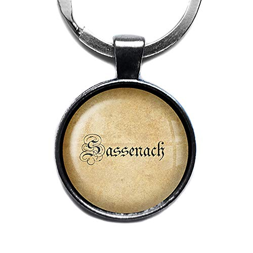Outlander Sassenach Silver Keychain Silber Schlüsselanhänger