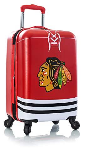 Heys America NHL Officially Licensed Wheeled Luggage (Chicago Blackhawks, 21-Inch)