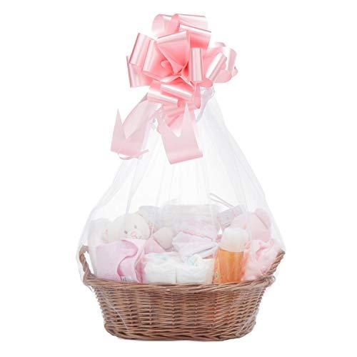 Baby Box Shop - Cesta regalo bebé niña con ropa de bebé - Artículos esenciales para niñas recién nacidas - Manta de bebé - Doudou y sonajero de unicornio rosa