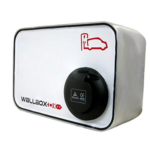 WallboxOK   New Wallbox SOCKET Punto Recarga Coche Eléctrico, 32A 400V 22kW Trifásico
