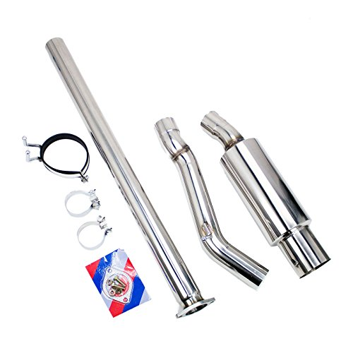 Rev9 CB-304 Single Exit Stainless Steel Cat-Back Exhaust Kit, 3 Inch Piping, Compatible With Mitsubishi Lancer Evolution X 2008-15