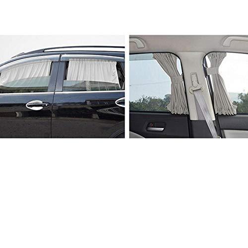 70S katoenen stof Autogordijn Zijruit Auto Zonnescherm Gordijn UV-beschermend blok Gordijn Zonneschermset - grijs
