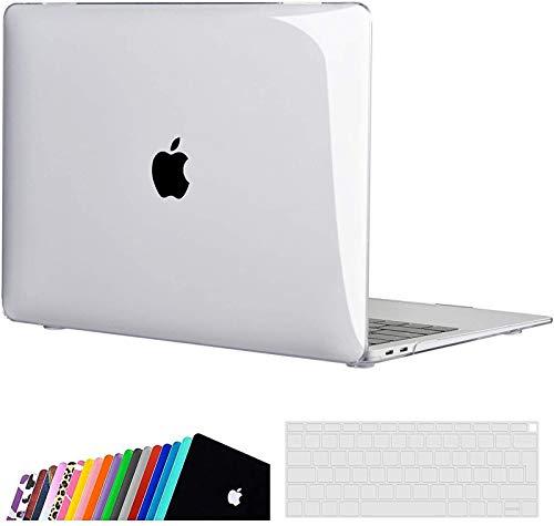 INESEON MacBook Air 13-Zoll Hülle Case 2020/2019/2018 (A2337 M1/ A2179/ A1932), Plastik Case Schutzhülle + Tastaturschutz für MacBook Air 13 Retina mit Touch ID, Kristallklar