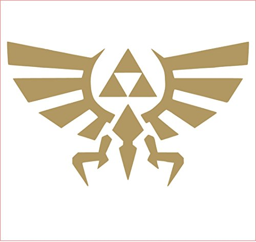 TTNT Legend of Zelda Triforce Vinyl Sticker Decal (Gold, 2