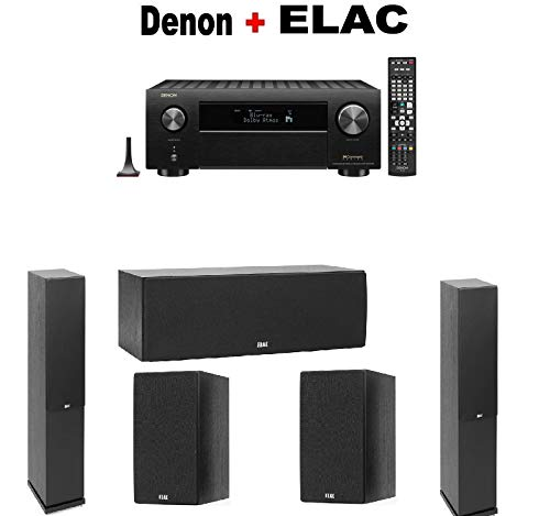 Great Features Of Denon AVR-X4500H 9.2-Channel 4K AV Receiver + Pair of Elac F5.2 Floorstanding + EL...