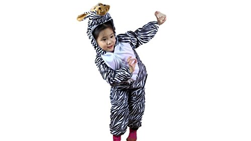 Niños Disfraces de Animales Niños Niñas Unisex Disfraces Cosplay Niños Onesie (Cebra, M (para niños de 90 a 105 cm de Altura))