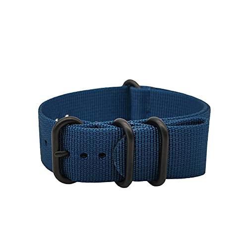 Masar 20mm ZULU Blu/Nero Heavy Duty - Cinturino per orologio - Universal 20 Zulu Blueblack