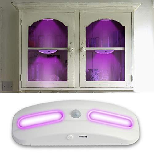 Bageek Lámpara UV LED Sensor de Movimiento y luz Luz del esterilizador para Inodoro Armario Empotrado